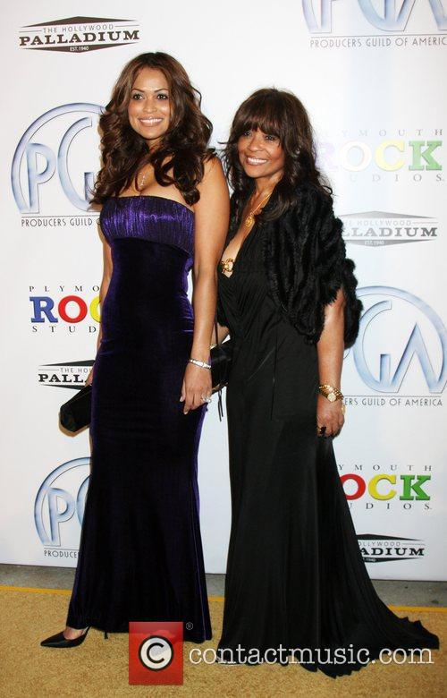 Tracey Edmonds and mother 20th Annual Producers Guild...