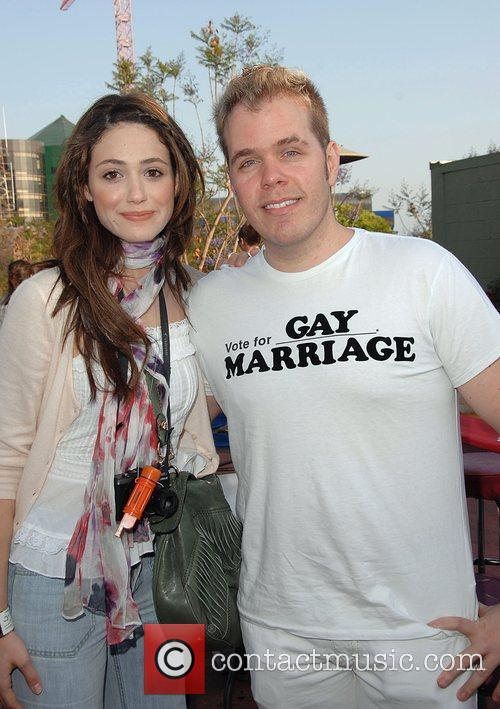 Emmy Rossum and Perez Hilton 5