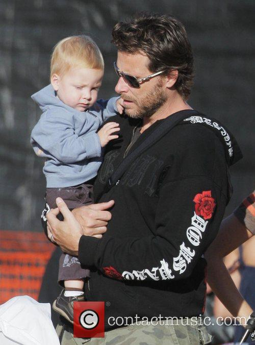 Dean Mcdermott and Son Liam At Mr. Bones Pumpkin Patch In West Hollywood 4