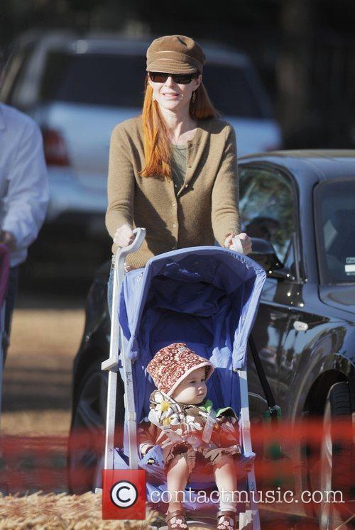 Marcia Cross and daughter at Mr. Bones Pumpkin...