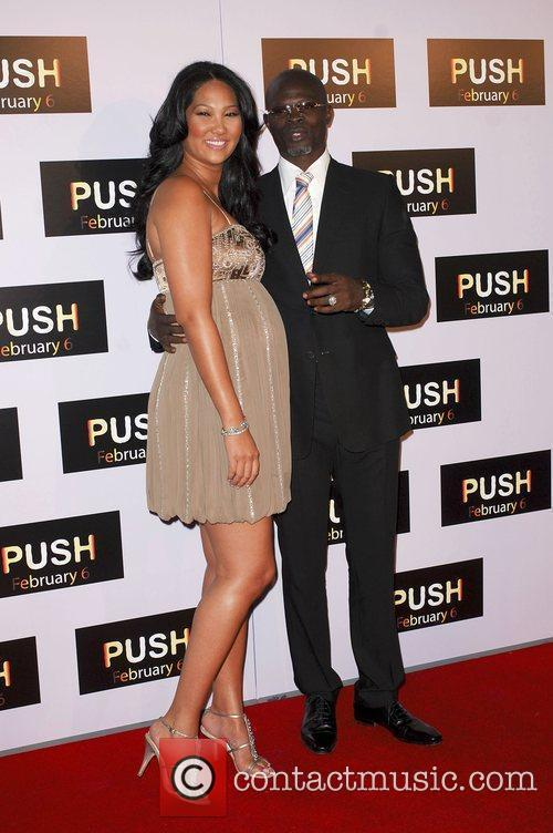 Kimora Lee and Djimon Hounsou Los Angeles Premiere...