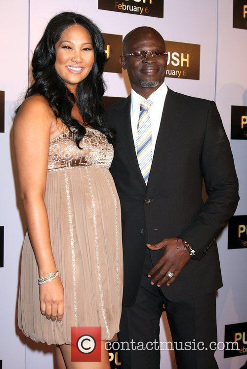 Kimora Lee Simmons and Djimon Hounsou Los Angeles...