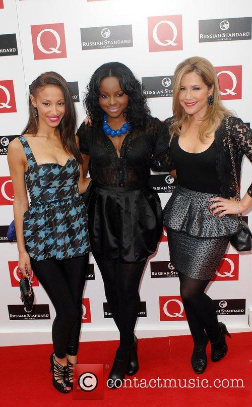 Amelle Berrabah, Keisha Buchanan and Heidi Range of...