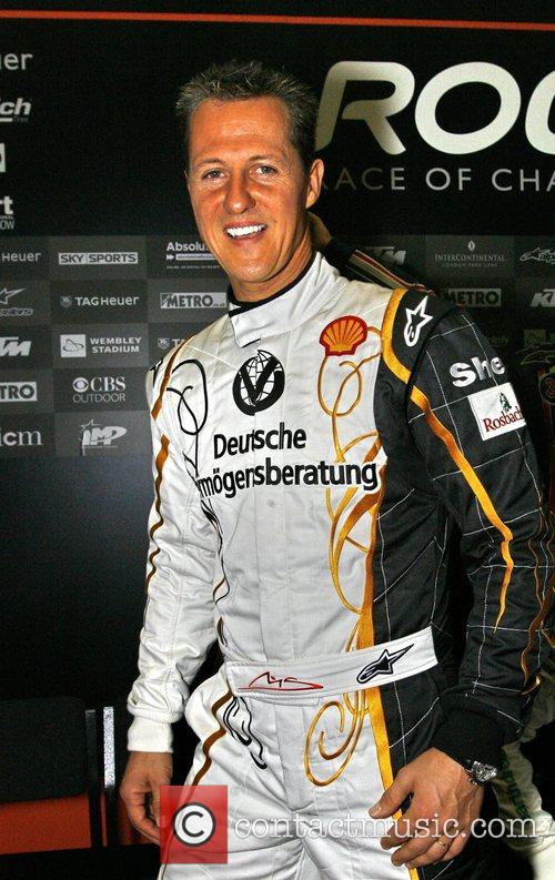 Michael Schumacher The Race of Champions held at...