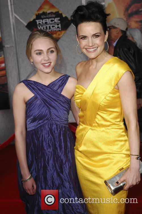 AnnaSophie Robb and Carla Gugino Premiere of 'Race...