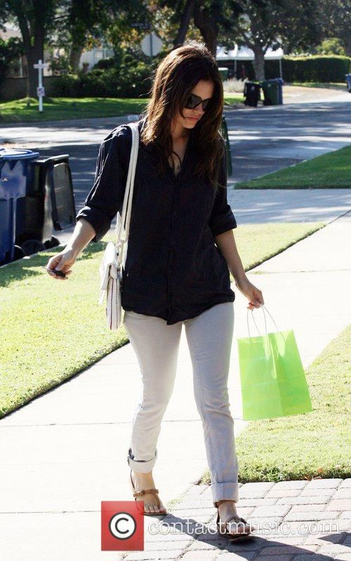 Rachel Bilson visiting her mother in Studio City...