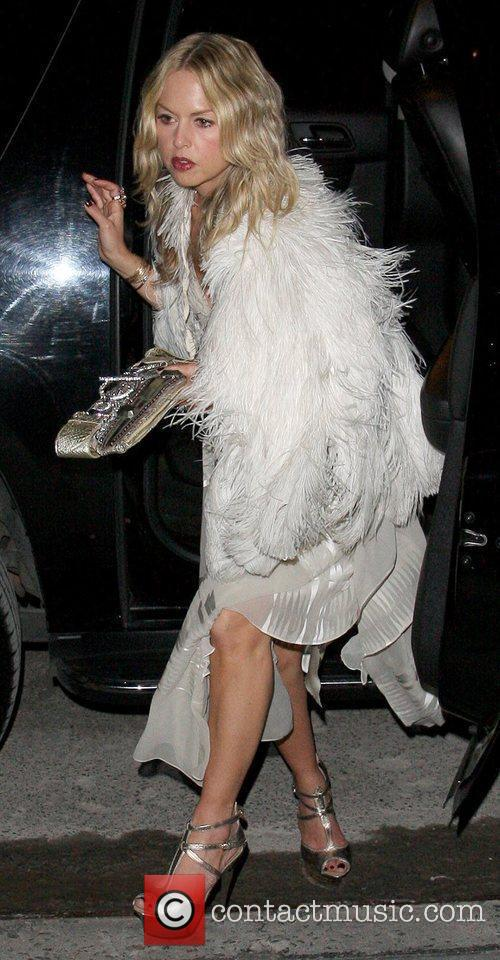 Arrives at the Gramercy Park Hotel