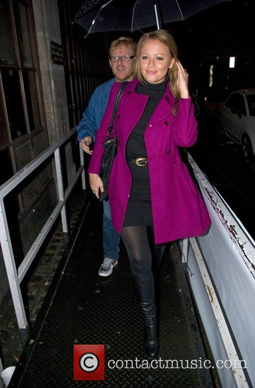 Kimberley Walsh at Radio one