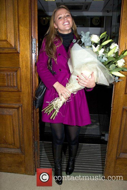 Kimberley Walsh at Radio one London, England