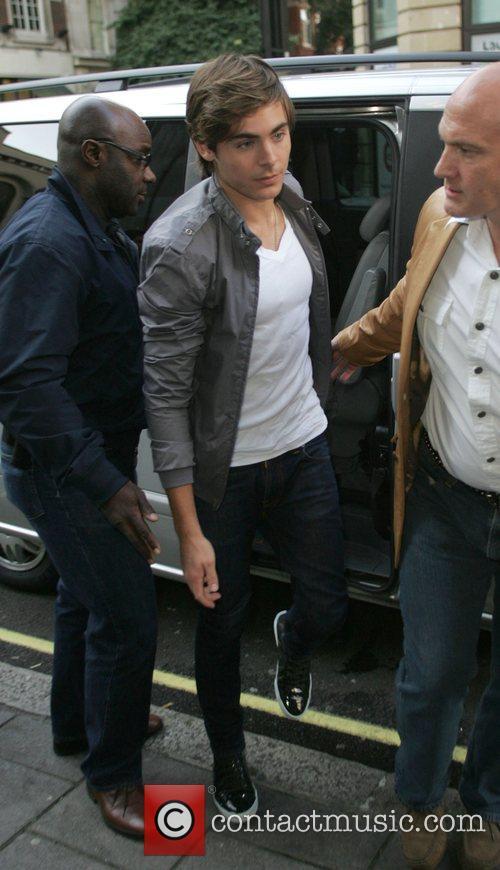 Zac Efron outside the BBC Radio One studios...