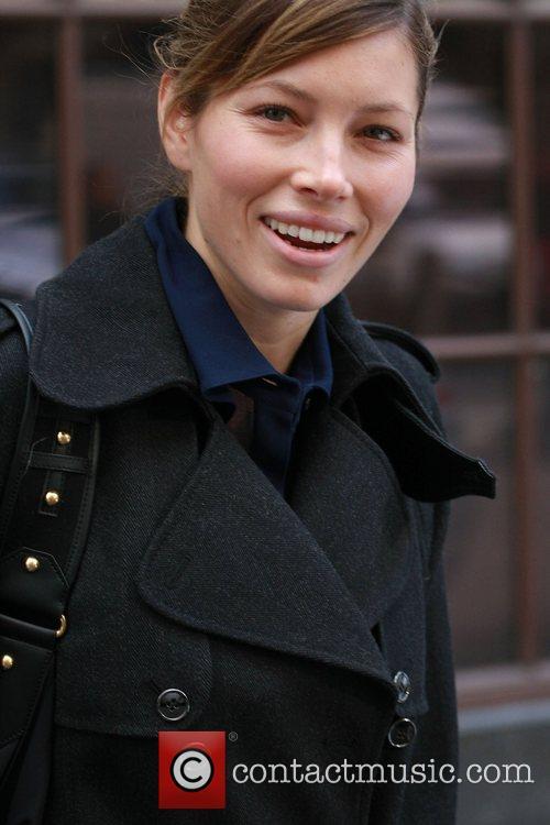 Jessica Biel leaving the BBC Radio One studios...