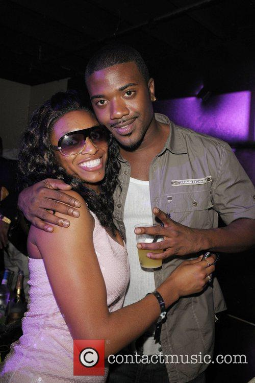 Ray J greets a fan at the launch...