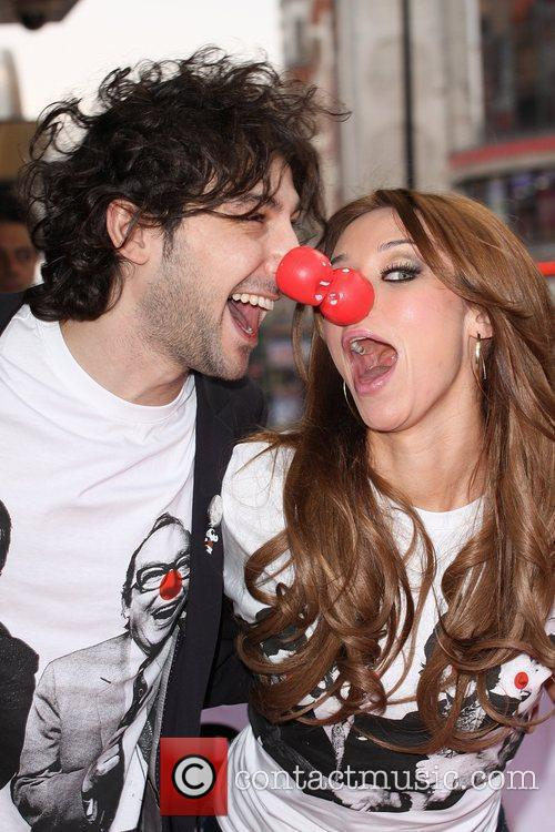 Alex Zane and Una Healy from The Saturdays...