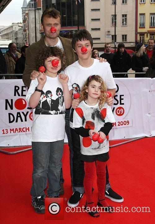 Hugh Dennis Red Nose Day - press launch...