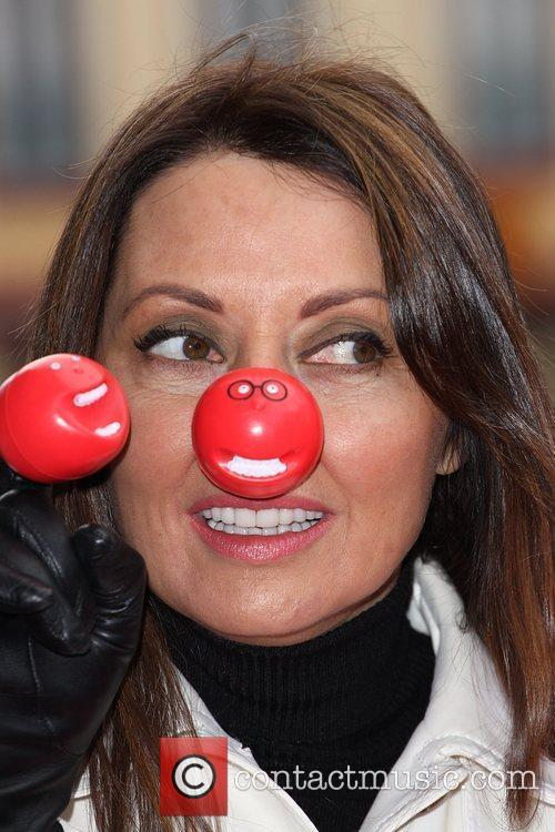 Carol Vorderman Red Nose Day - press launch...