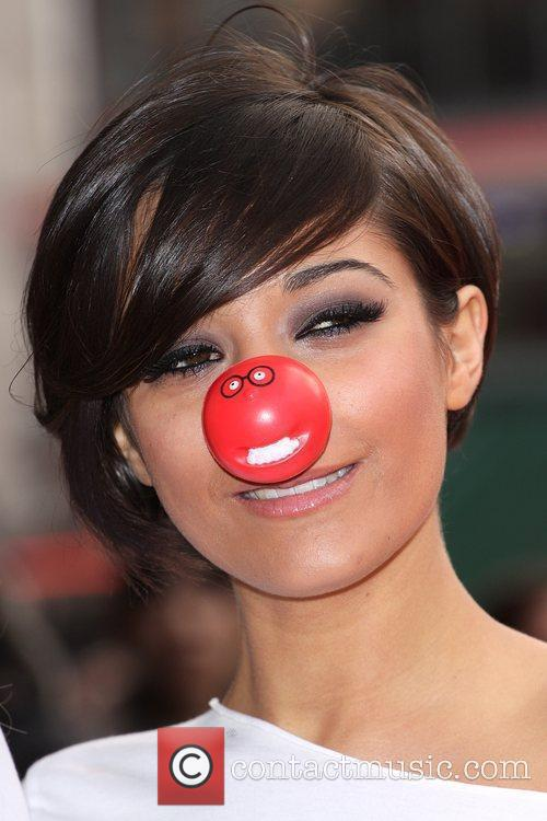 Frankie Sandford from The Saturdays Red Nose Day...