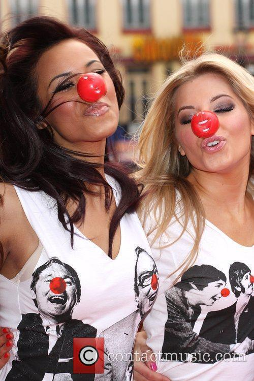 Rochelle Wiseman and Mollie King from The Saturdays...