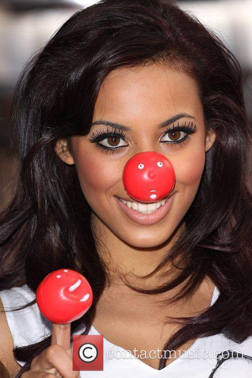 Rochelle Wiseman from The Saturdays Red Nose Day...