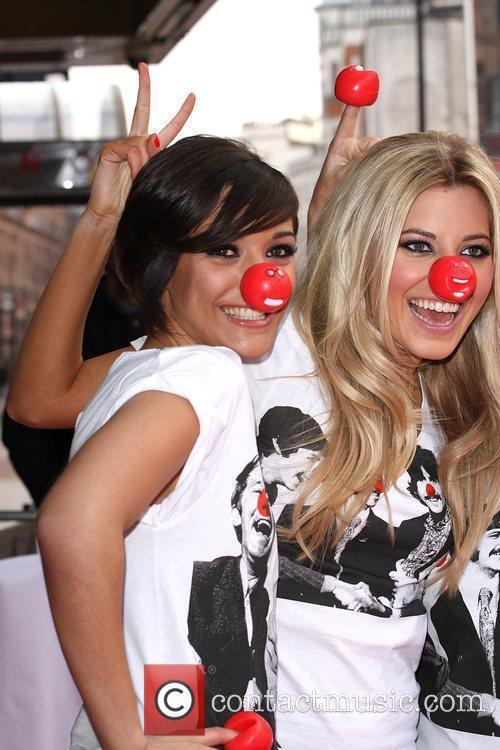 Frankie Sandford and Mollie King from The Saturdays...