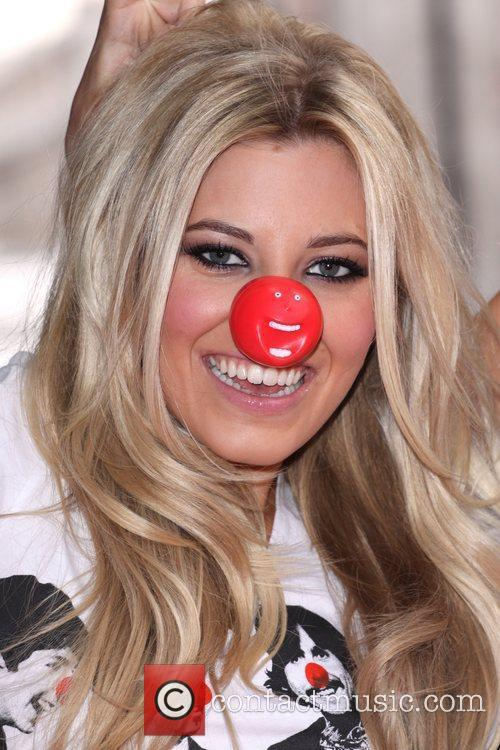 Mollie King from The Saturdays Red Nose Day...