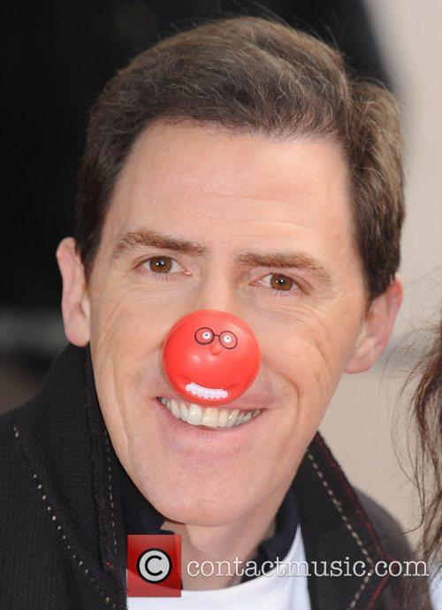 Rob Brydon Red Nose Day - press launch...