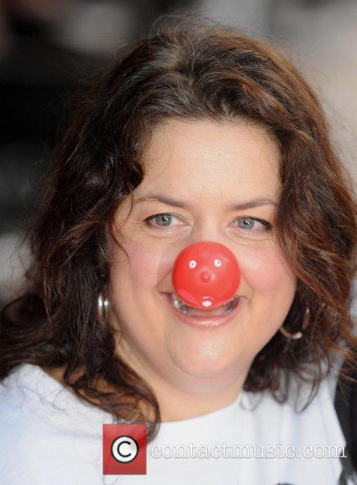 Ruth Jones Red Nose Day - press launch...