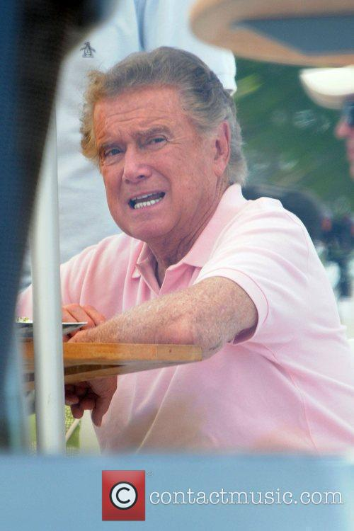 Regis Philbin at the Fontainebleau Hotel relaxing and...