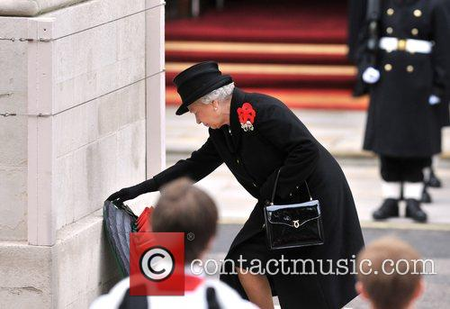 The Queen Remembrance Sunday memorial service held at...