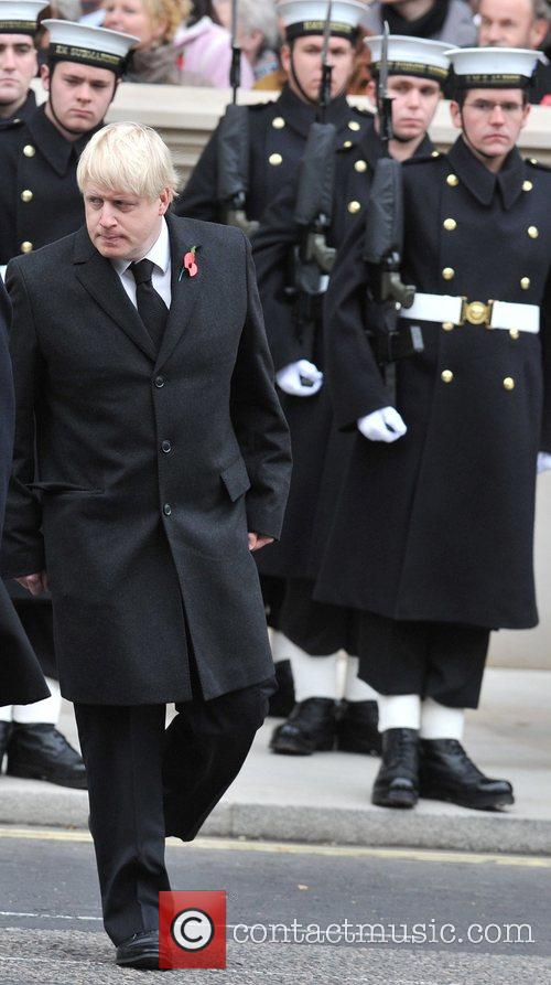 Boris Johnson Remembrance Sunday memorial service held at...