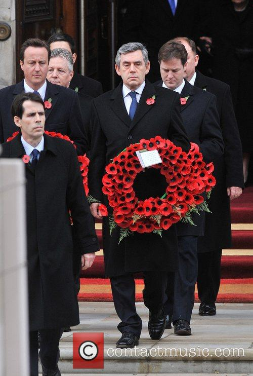 Gordon Brown Remembrance Sunday memorial service held at...