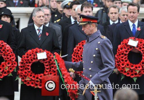 HRH The Duke of Kent Remembrance Sunday memorial...