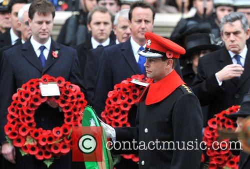 HRH The Earl of Wessex Remembrance Sunday memorial...