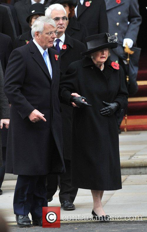 John Major and Baroness Margaret Thatcher Remembrance Sunday...