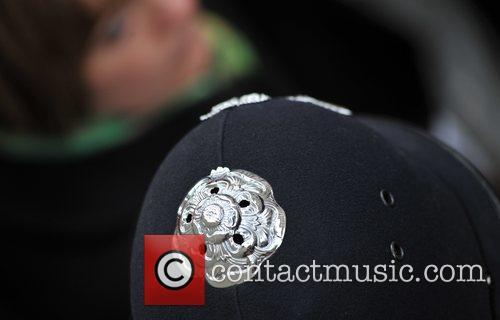 Metropolitan Police helmet Remembrance Sunday memorial service held...