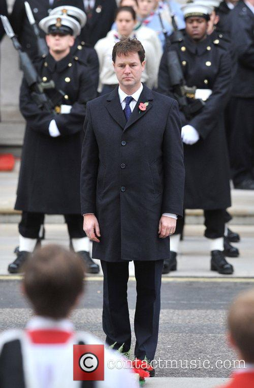 Nick Clegg Remembrance Sunday memorial service held at...