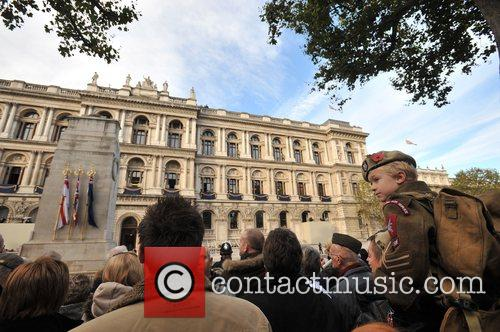 Remembrance Sunday memorial service held at the Cenotaph...