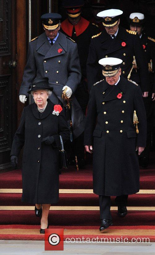 The Queen and the Duke of Edinburgh Remembrance...