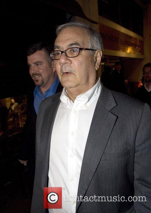 Barney Frank outside the Renaissance hotel in downtown...