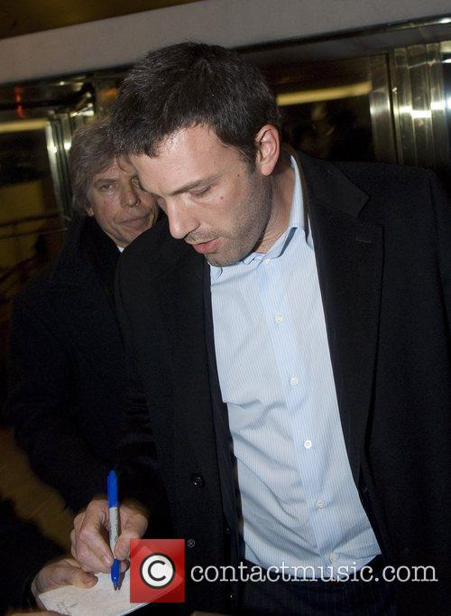 Ben Affleck outside the Renaissance hotel in downtown...