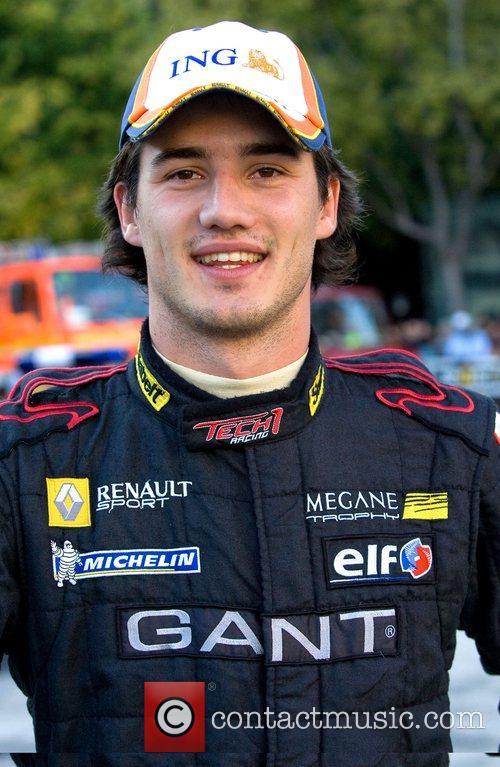 Pedro Petiz during the street car circuit in...