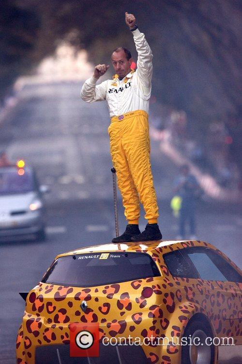 Terry Grant, stunt car driver during the street...