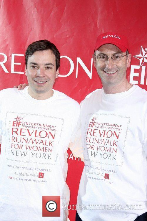 Jimmy Fallon and Revlon President and CEO Alan...