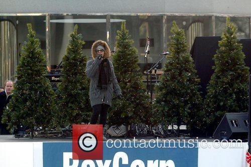 Ashanti during her sound check. 2008 RexCorp Plaza...