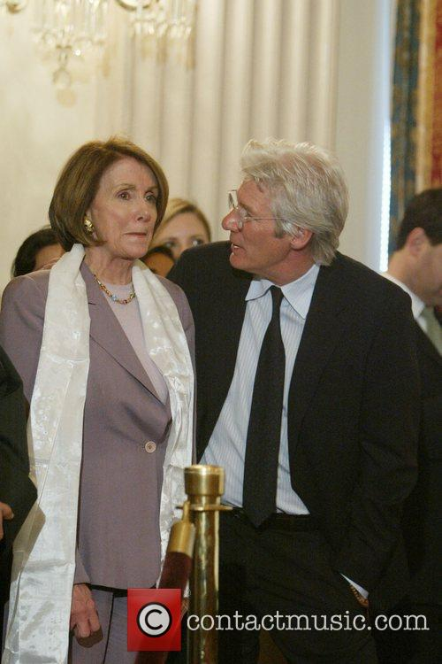 Richard Gere and House Speaker Nancy Pelosi 6