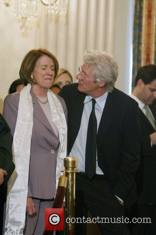 Richard Gere and House Speaker Nancy Pelosi 1
