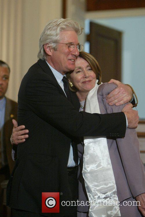 Richard Gere and House Speaker Nancy Pelosi 5