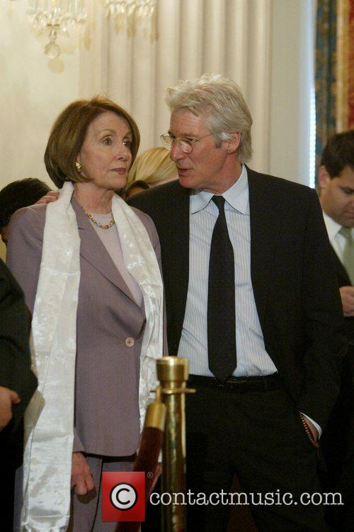 Richard Gere and House Speaker Nancy Pelosi 10