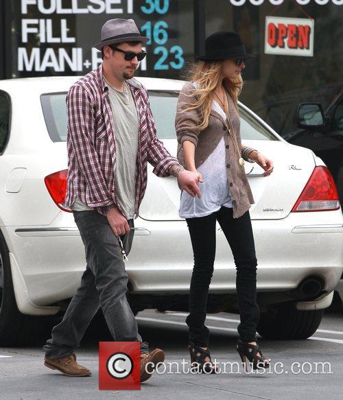 Nicole Richie and boyfriend Joel Madden leaving Chanel...