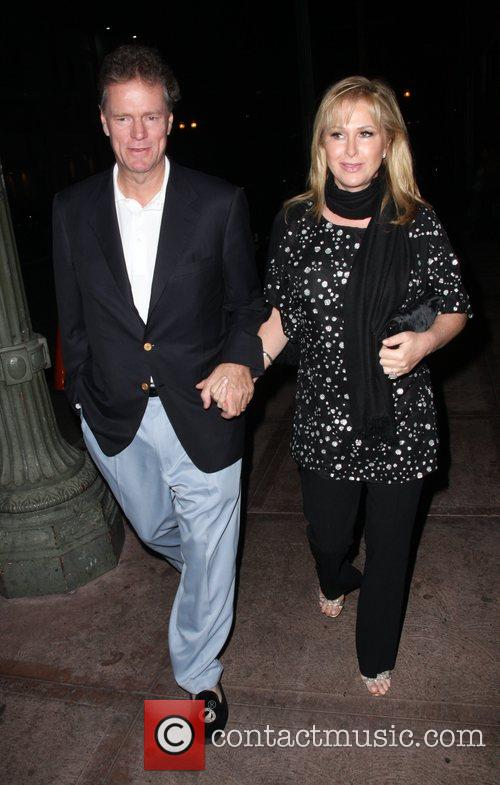 Rick and Cathy Hilton arriving at Beso restaurant...