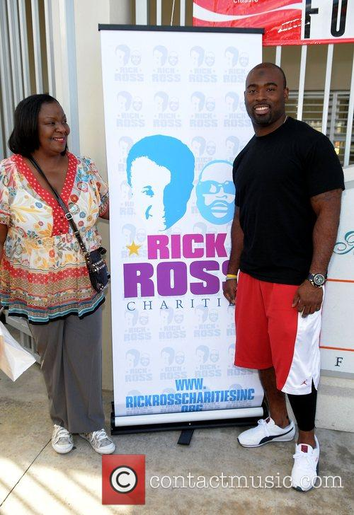 Rick Ross' mother Tommie Robert and Miami Dolphin...